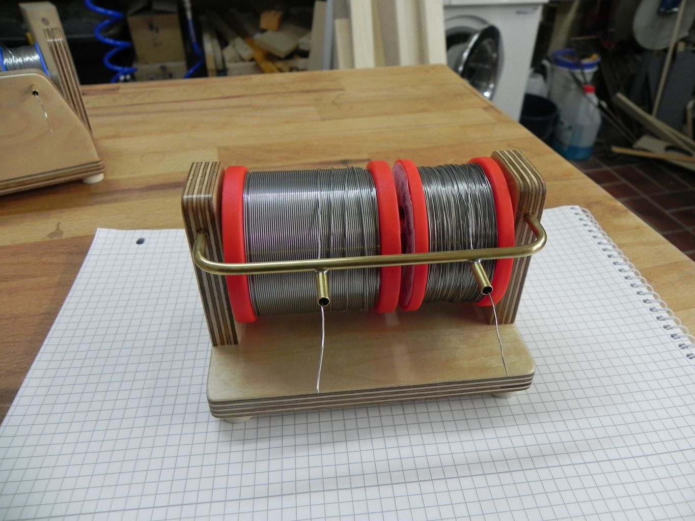 DIY solder reel holder