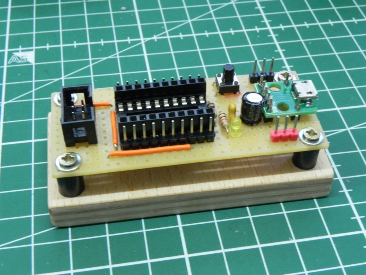 Breakout board for ATtiny2313a with ISP header
